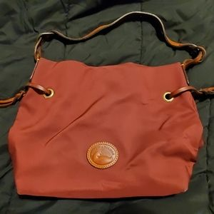 Dooney & Bourke Burgundy Vinyl Tote
